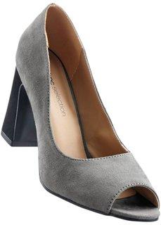 Туфли с открытым носком (бежевый/бронзовый) Bonprix