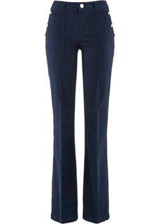 Расклешенные стрейтчевые брюки (белый) Bonprix