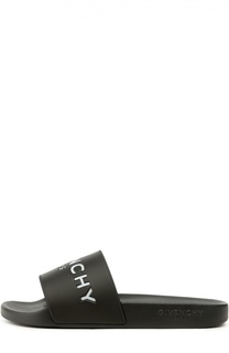 Резиновые шлепанцы с логотипом бренда Givenchy
