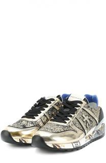 Кросcовки Diane из металлизированной кожи с глиттером Premiata