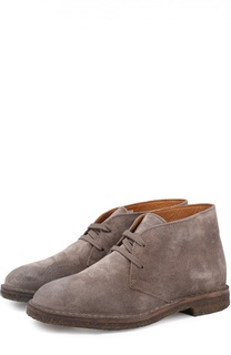 Замшевые ботинки на шнуровке Uit