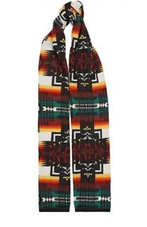 Вязаный шарф с принтом No. 21