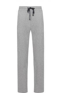 Хлопковые спортивные брюки прямого кроя James Perse