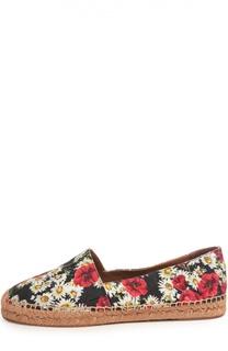 Парчовые эспадрильи с принтом Dolce & Gabbana