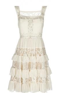 Вечернее платье с поясом Elie Saab