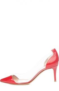 Лаковые туфли Plexi на шпильке Gianvito Rossi