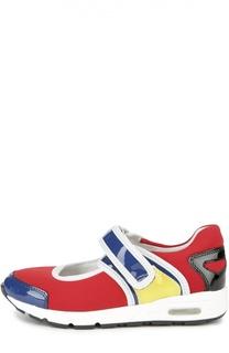 Кеды color block с кожаными вставками AM66