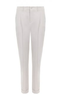 Прямые брюки со стрелками и отворотами Loro Piana
