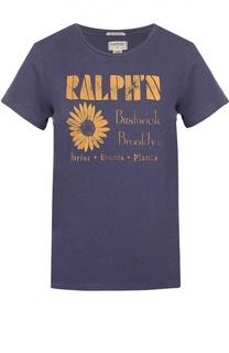 Футболка прямого кроя с контрастным принтом Denim&Supply by Ralph Lauren
