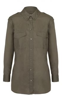 Блуза прямого кроя с накладными карманами Equipment