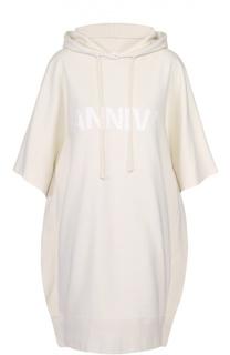 Платье-свитшот прямого кроя с капюшоном Mm6