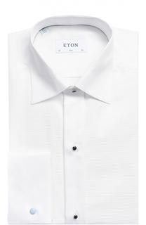Хлопковая сорочка под смокинг с воротником кент Eton