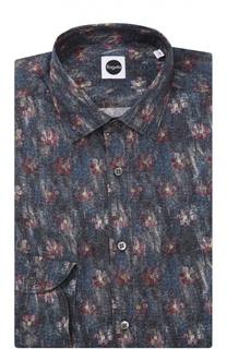 Хлопковая рубашка с принтом Bagutta