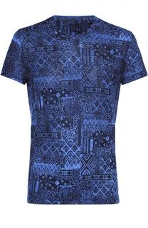Льняная футболка с принтом 120% Lino