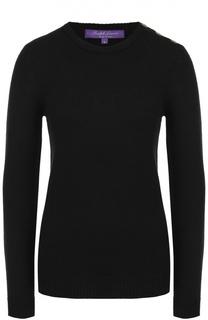 Кашемировый облегающий пуловер с круглым вырезом Ralph Lauren