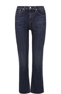 Укороченные джинсы с завышенной талией и потертостями Rag&Bone Rag&Bone