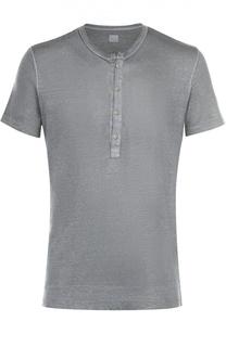 Льняная футболка хенли 120% Lino