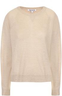 Пуловер свободного кроя с металлизированной отделкой Elizabeth and James