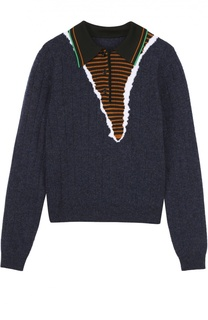 Пуловер прямого кроя с отложным воротником Maison Margiela