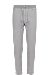 Льняные брюки прямого кроя с эластичным поясом 120% Lino