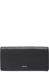 Кожаный бумажник на кнопке DKNY
