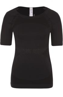 Спортивная облегающая футболка с перфорацией Adidas by Stella McCartney