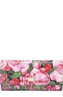 Кошелек из кожи с принтом Dolce & Gabbana