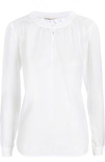 Приталенная полупрозрачная блуза с вырезом капелька Saint Laurent