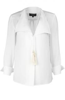 Прямая блуза с V-образным вырезом и золотыми кистями Derek Lam
