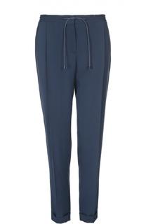 Шелковые прямые брюки с эластичным поясом Loro Piana