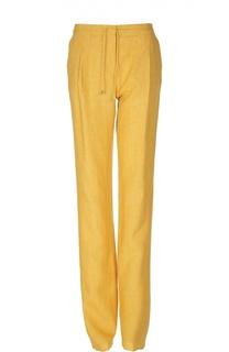 Льняные брюки со стрелками с эластичным поясом Loro Piana
