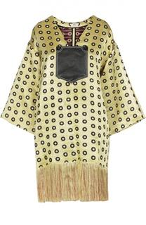 Платье-миди с широкими рукавами и бахромой Edun