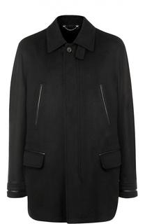 Укороченное пальто из смеси шерсти и кашемира Brioni