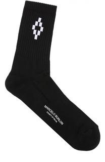 Хлопковые носки с контрастной отделкой Marcelo Burlon