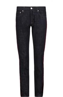 Зауженные джинсы с бархатной отделкой Alexander McQueen