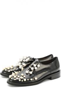 Кожаные ботинки с жемчужинами и полукольцами Coliac