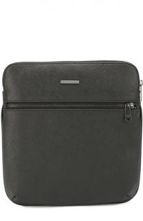 Сумка-планшет с внешним карманом на молнии Armani Jeans