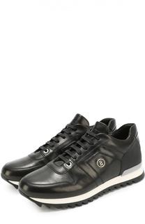 Кожаные кроссовки на контрастной подошве Bogner
