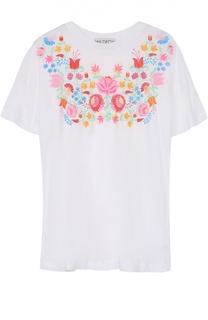 Удлиненная футболка прямого кроя с цветочным принтом Wildfox
