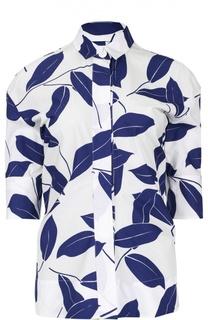 Блуза с укороченным рукавом и ярким принтом Marni