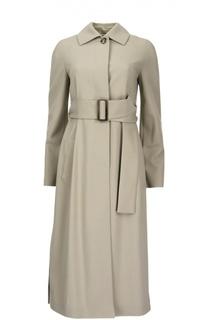 Удлиненное пальто с разрезами и поясом Michael Kors