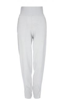 Вязаные брюки с завышенной талией и перфорацией Tse
