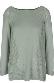 Пуловер с перфорацией и вырезом-лодочка Tse
