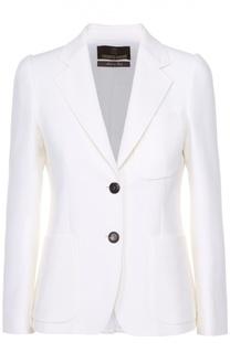 Приталенный жакет с укороченным рукавом и накладными карманами Roberto Cavalli