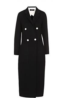 Двубортное удлиненное пальто с контрастными пуговицами Joseph