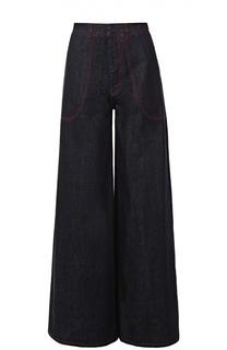 Расклешенные джинсы с контрастной прострочкой Marni