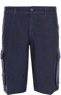 Льняные шорты с накладными карманами 120% Lino