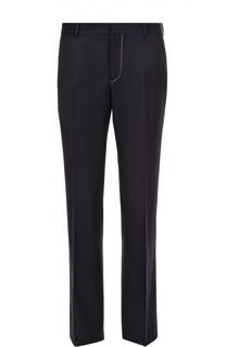 Шерстяные брюки прямого кроя с контрастной отделкой Alexander McQueen