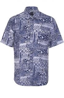 Льняная рубашка с принтом 120% Lino