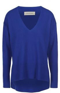 Пуловер свободного кроя с разрезами и V-образным вырезом By Malene Birger